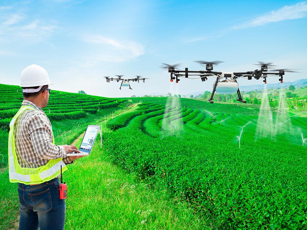Uso de Drones de Pulverização nas Lavouras